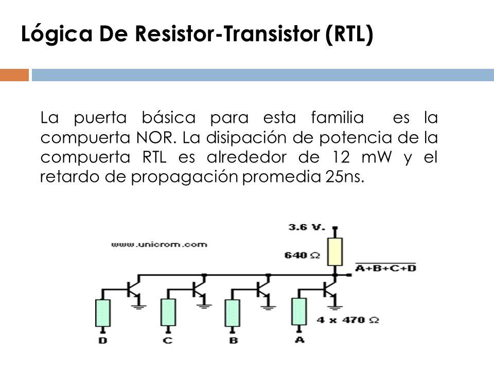 Lógica De Resistor-Transistor (RTL)