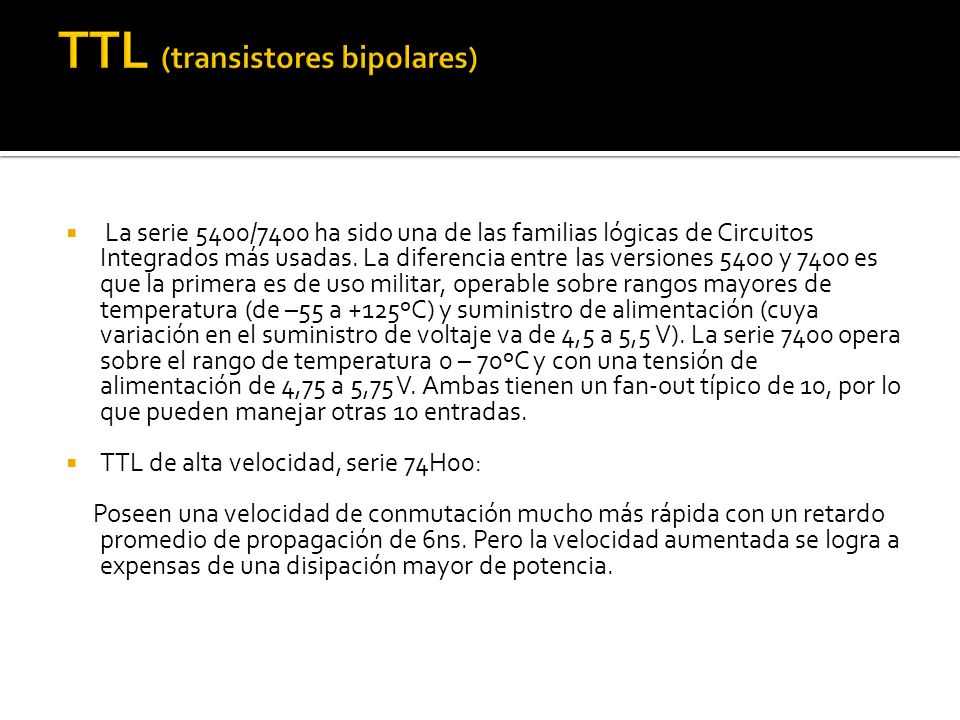 TTL (transistores bipolares)