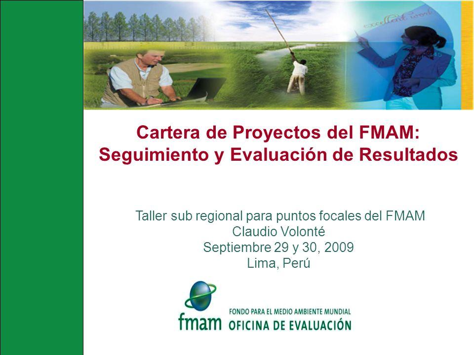 Cartera de Proyectos del FMAM: Seguimiento y Evaluación de Resultados