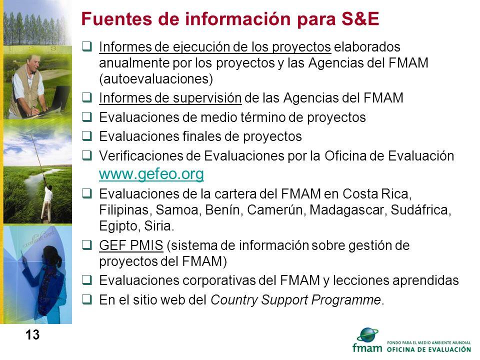 Fuentes de información para S&E