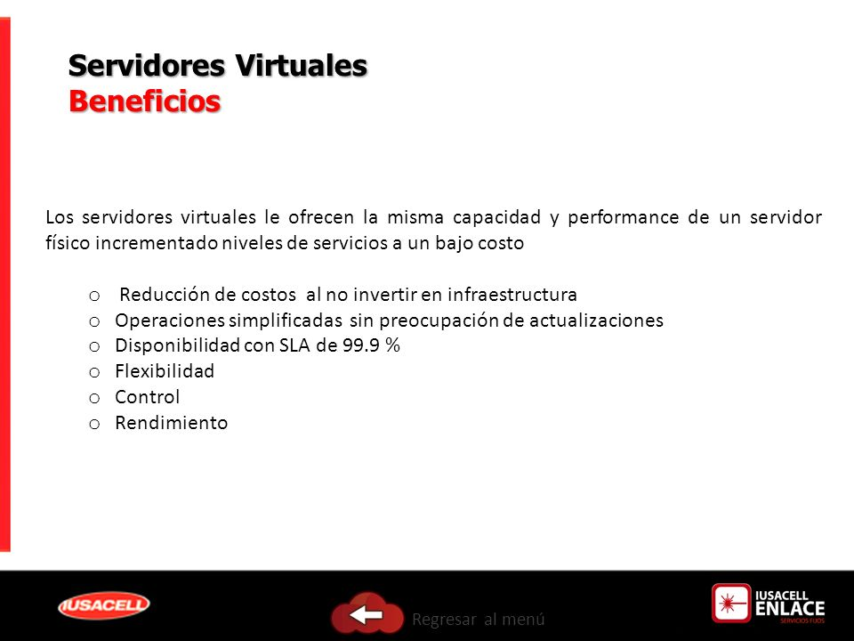 Servidores Virtuales Beneficios