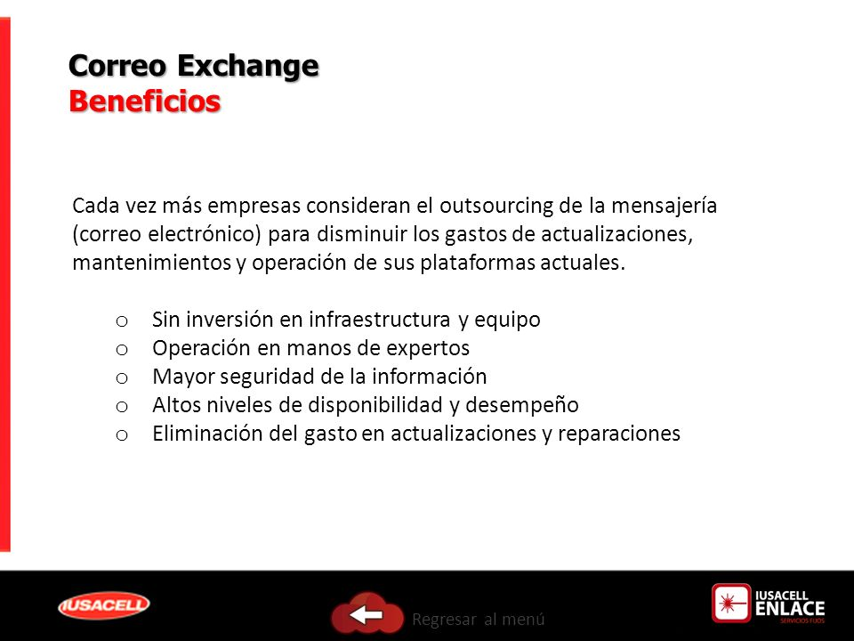 Correo Exchange Beneficios