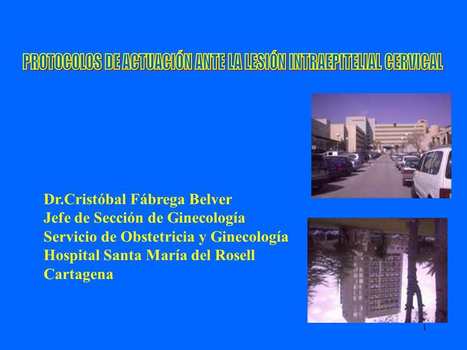 PROTOCOLOS DE ACTUACIÓN ANTE LA LESIÓN INTRAEPITELIAL CERVICAL
