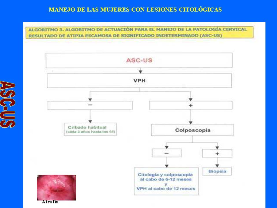 MANEJO DE LAS MUJERES CON LESIONES CITOLÓGICAS