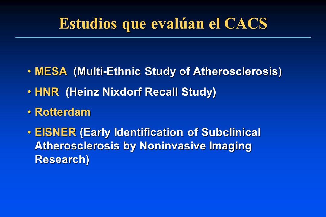 Estudios que evalúan el CACS