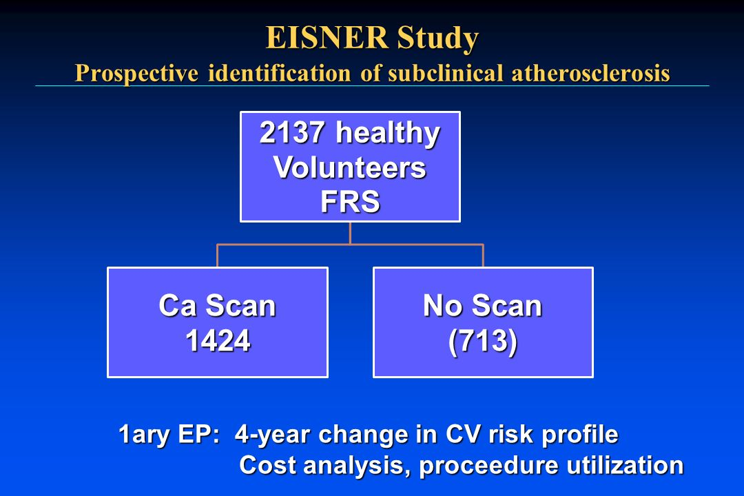 EISNER Study Prospective identification of subclinical atherosclerosis