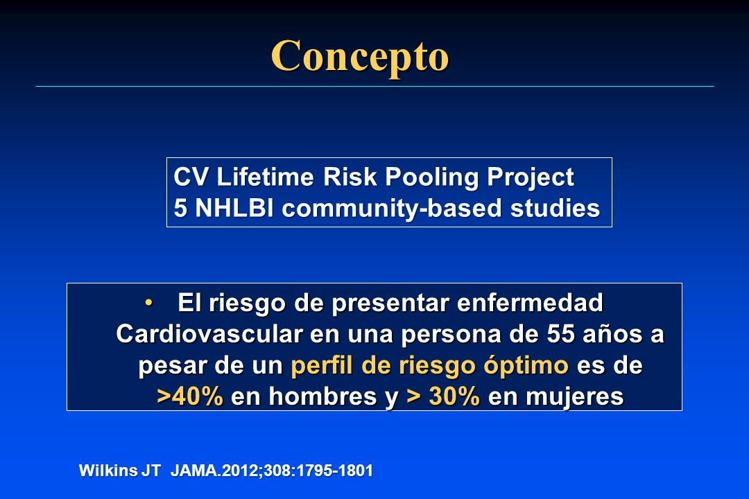 Concepto CV Lifetime Risk Pooling Project