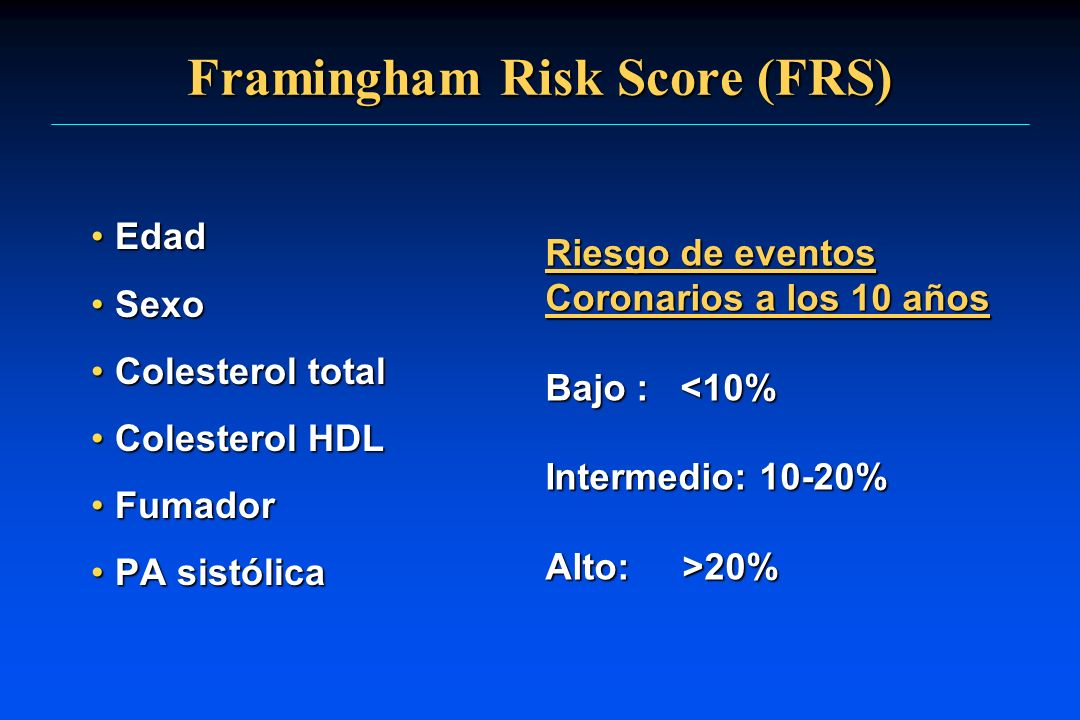 Framingham Risk Score (FRS)