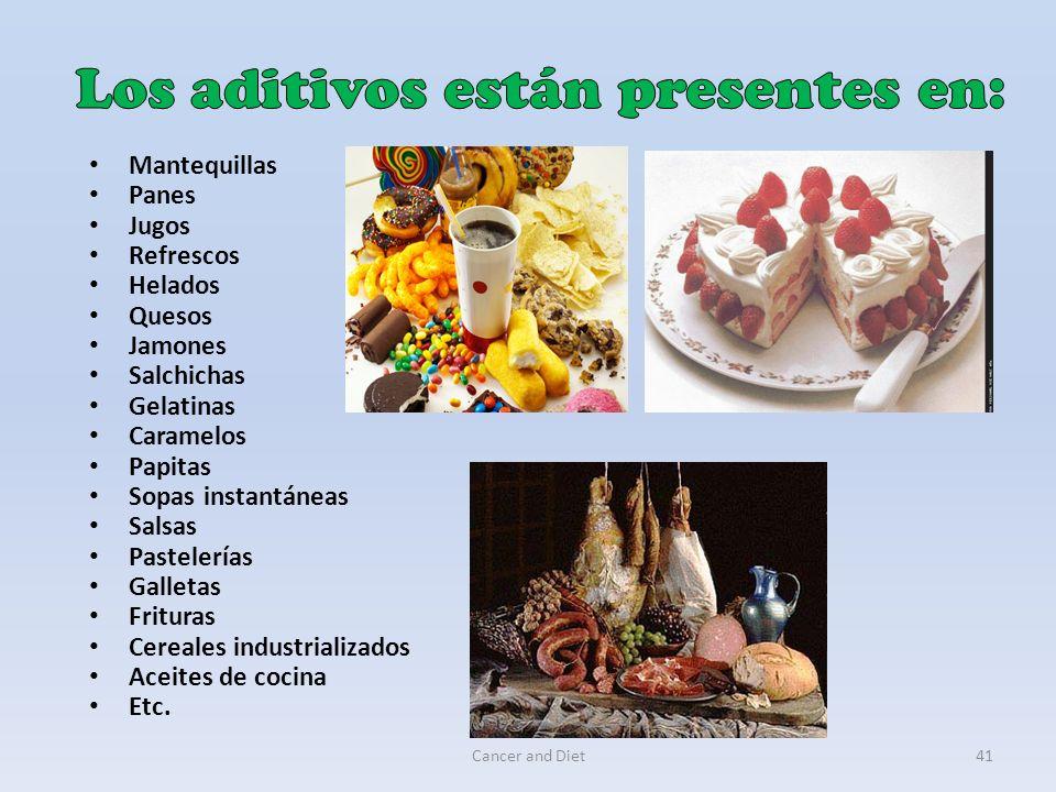 Los aditivos están presentes en: