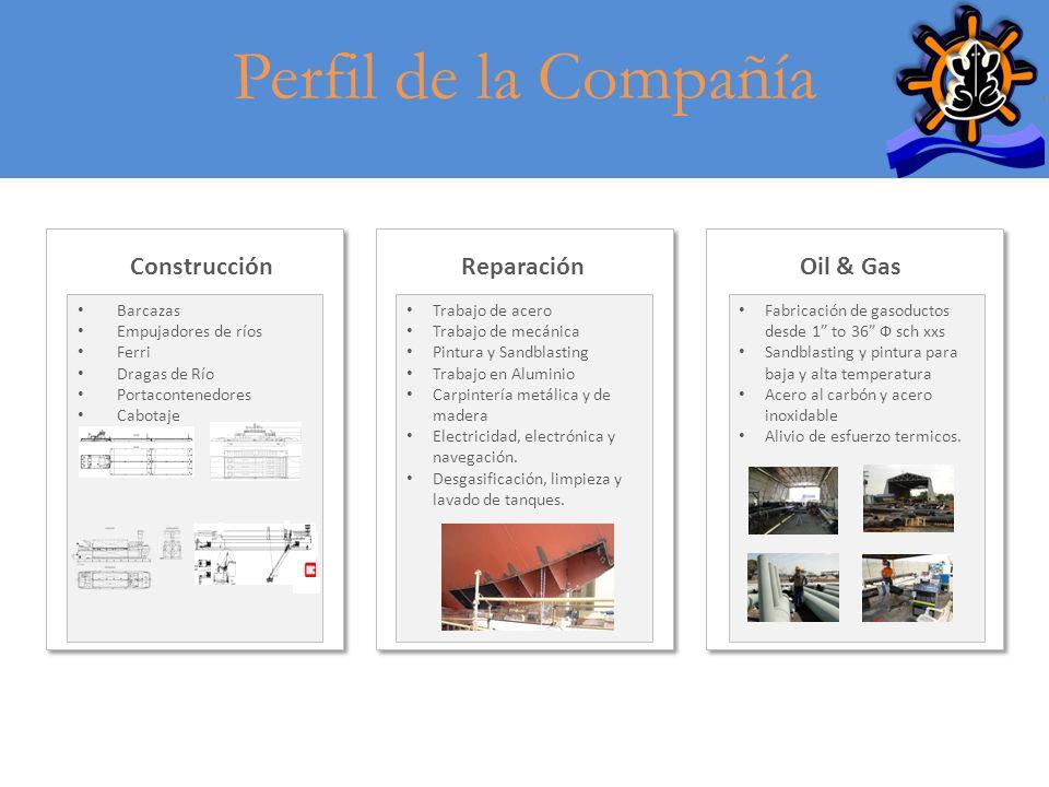 Perfil de la Compañía Construcción Reparación Oil & Gas Barcazas