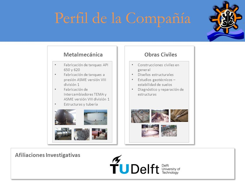 Perfil de la Compañía Metalmecánica Obras Civiles