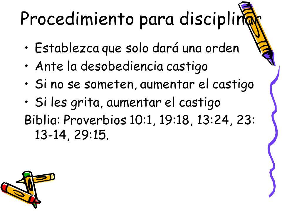Procedimiento para disciplinar