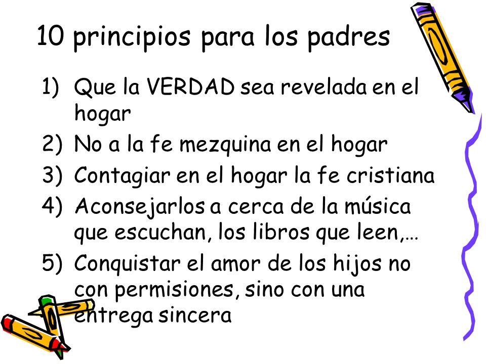 10 principios para los padres