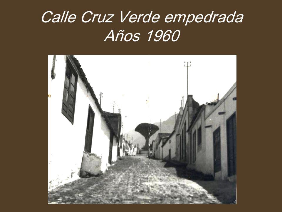 Calle Cruz Verde empedrada Años 1960