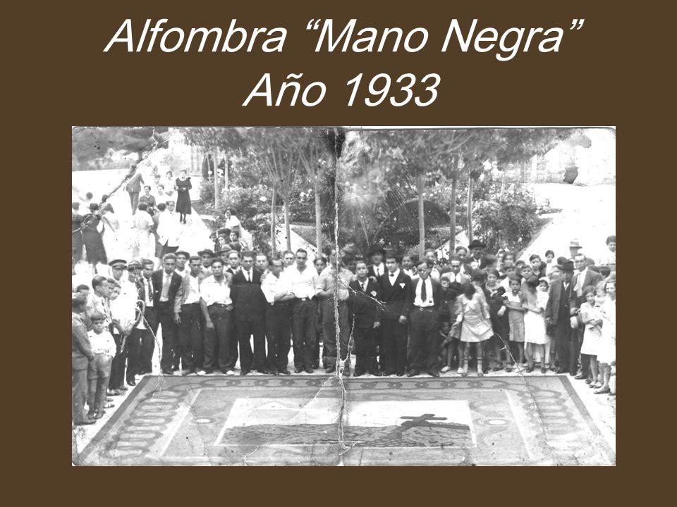 Alfombra Mano Negra Año 1933