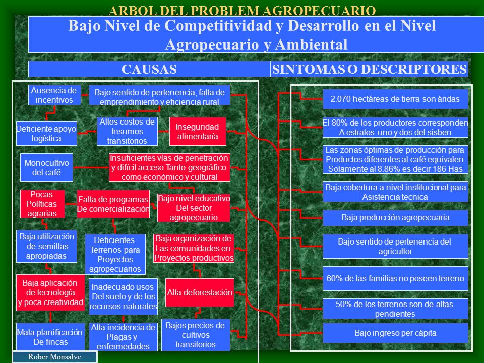 ARBOL DEL PROBLEM AGROPECUARIO