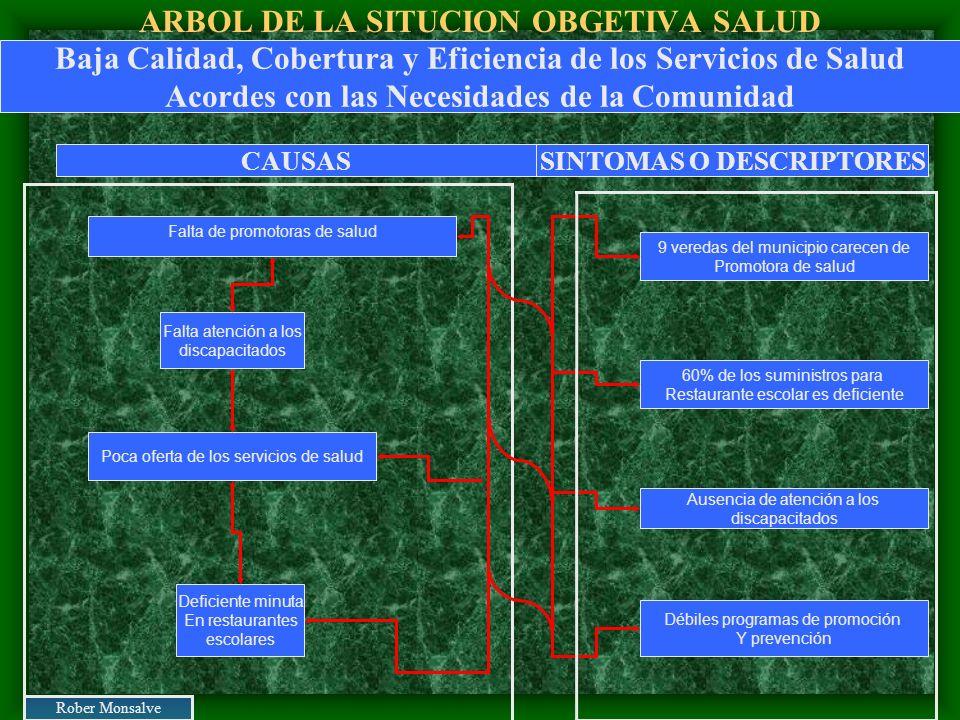 ARBOL DE LA SITUCION OBGETIVA SALUD