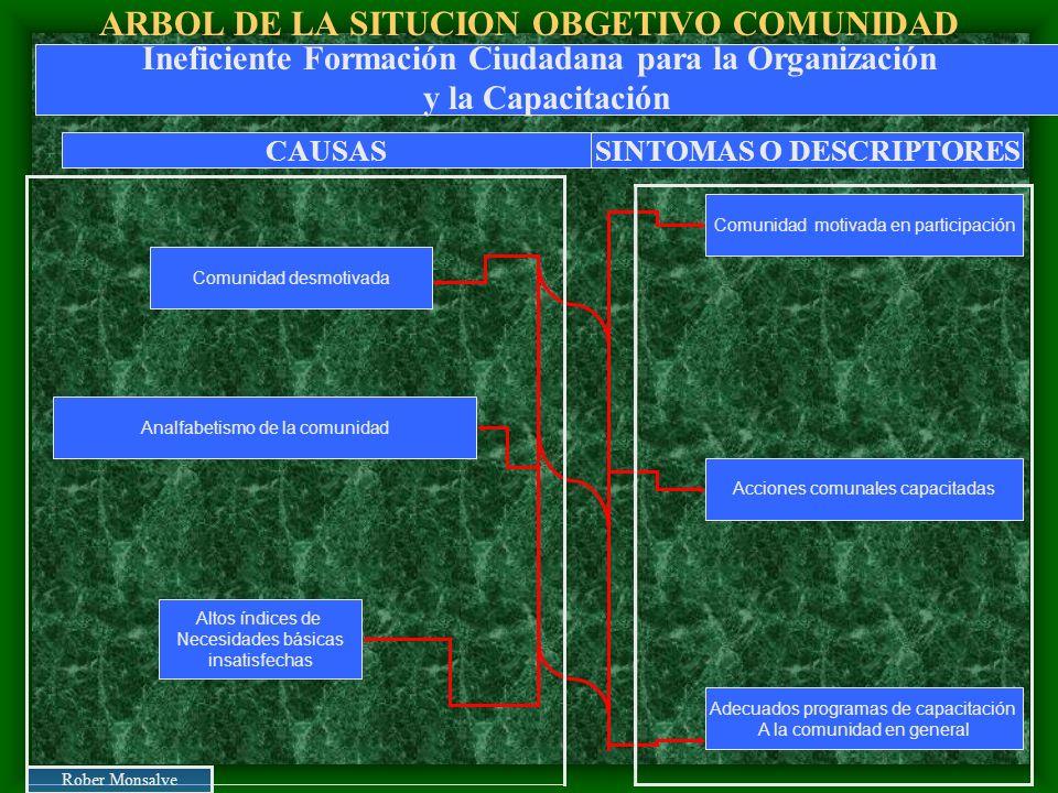 ARBOL DE LA SITUCION OBGETIVO COMUNIDAD