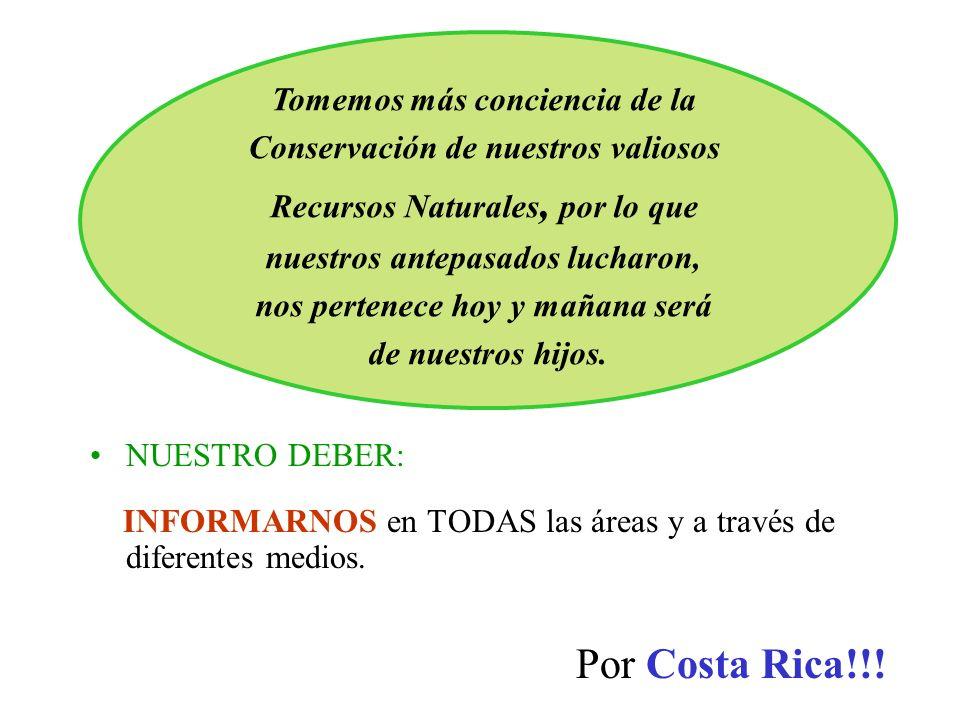 Por Costa Rica!!! Tomemos más conciencia de la
