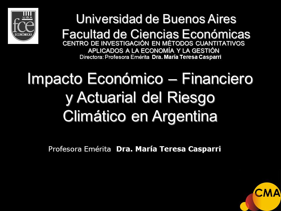 Directora: Profesora Emérita Dra. María Teresa Casparri