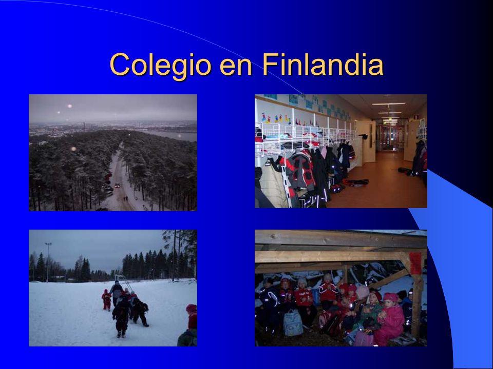 Colegio en Finlandia En esta fotografías, podemos apreciar algunas características físicas de donde se encuentra el colegio.