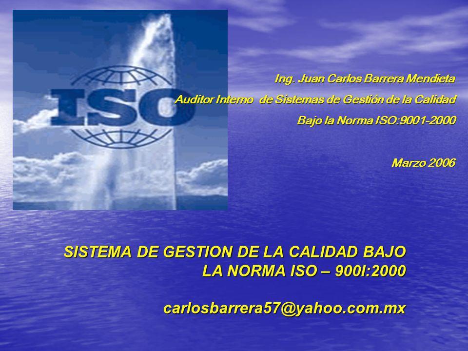 Ing. Juan Carlos Barrera Mendieta