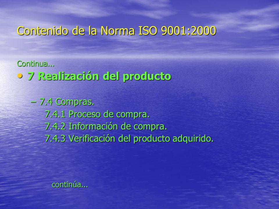 Contenido de la Norma ISO 9001:2000