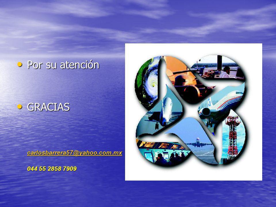 Por su atención GRACIAS carlosbarrera57@yahoo.com.mx 044 55 2858 7909
