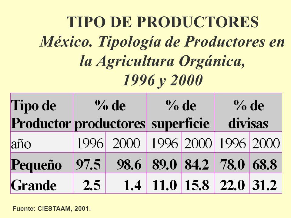 TIPO DE PRODUCTORES México