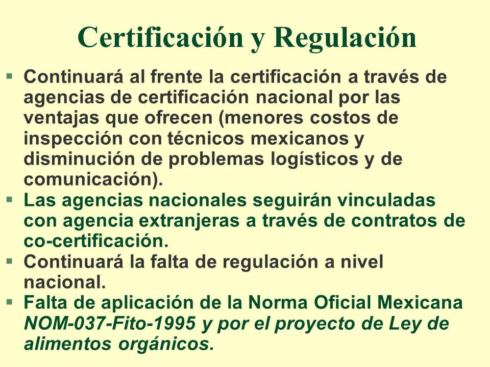 Certificación y Regulación