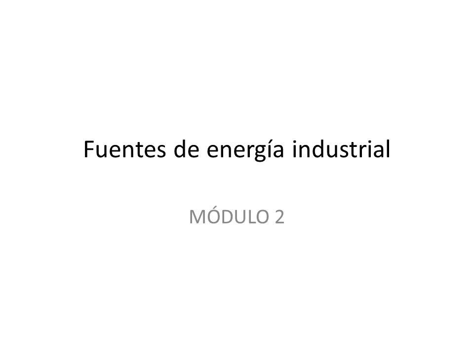 Fuentes de energía industrial