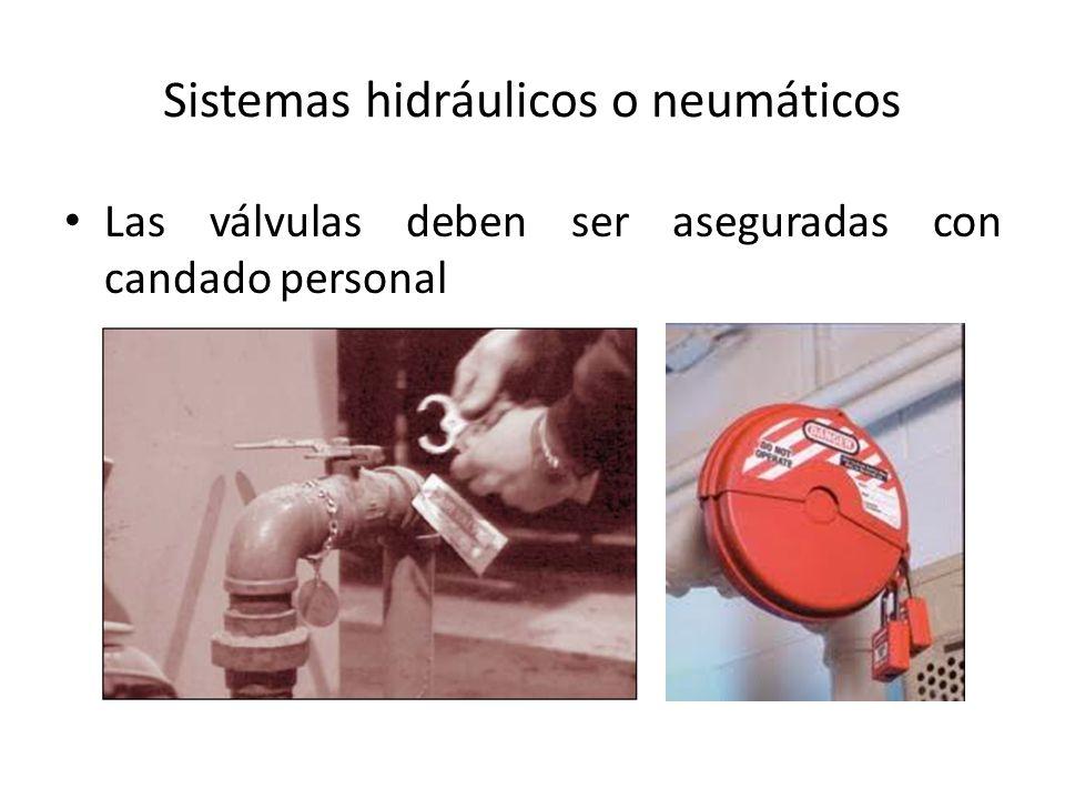 Sistemas hidráulicos o neumáticos