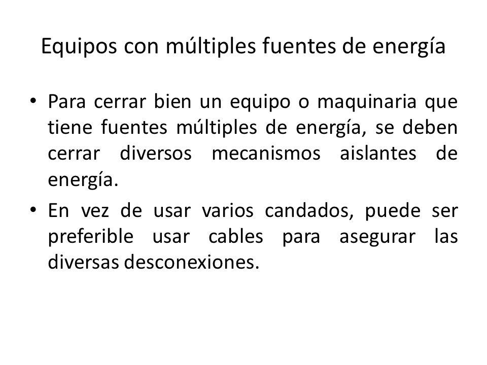 Equipos con múltiples fuentes de energía
