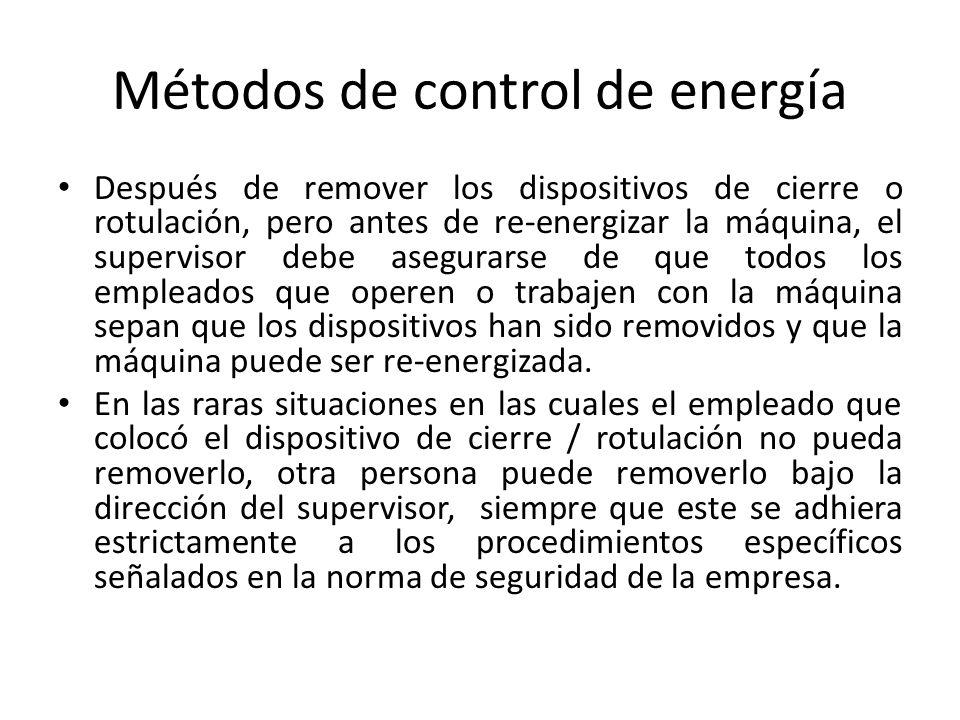 Métodos de control de energía