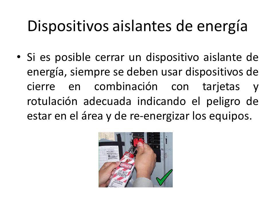 Dispositivos aislantes de energía