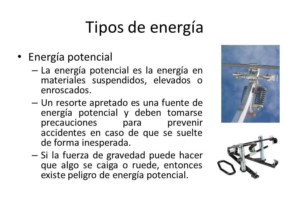 Tipos de energía Energía potencial