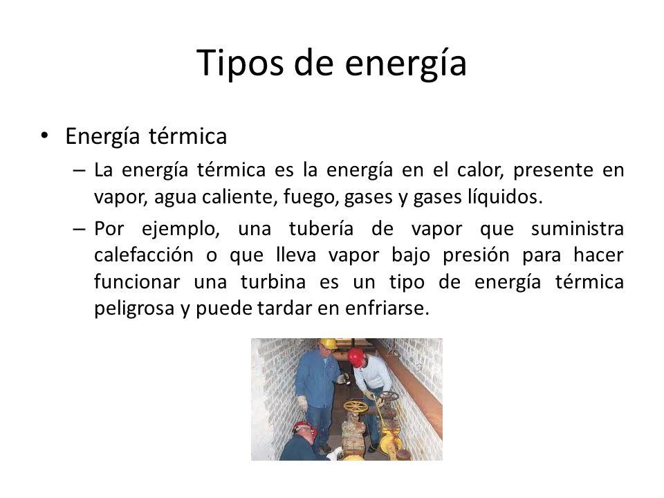 Tipos de energía Energía térmica