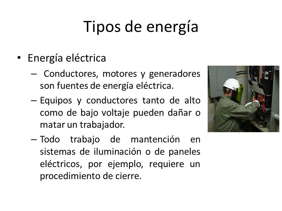 Tipos de energía Energía eléctrica