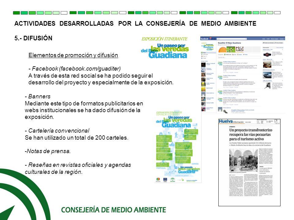 ACTIVIDADES DESARROLLADAS POR LA CONSEJERÍA DE MEDIO AMBIENTE