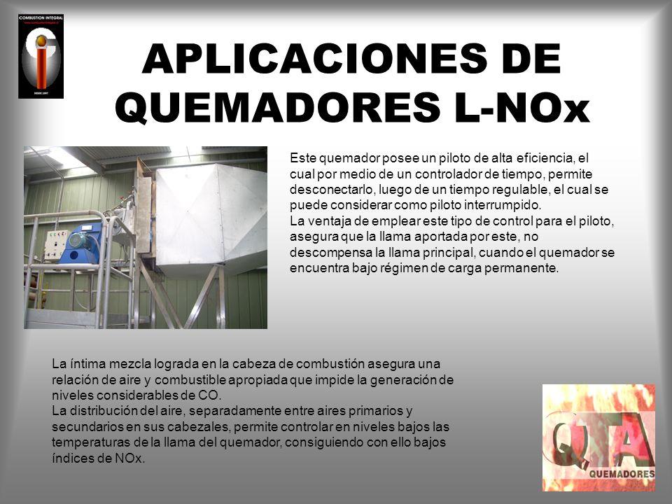 APLICACIONES DE QUEMADORES L-NOx