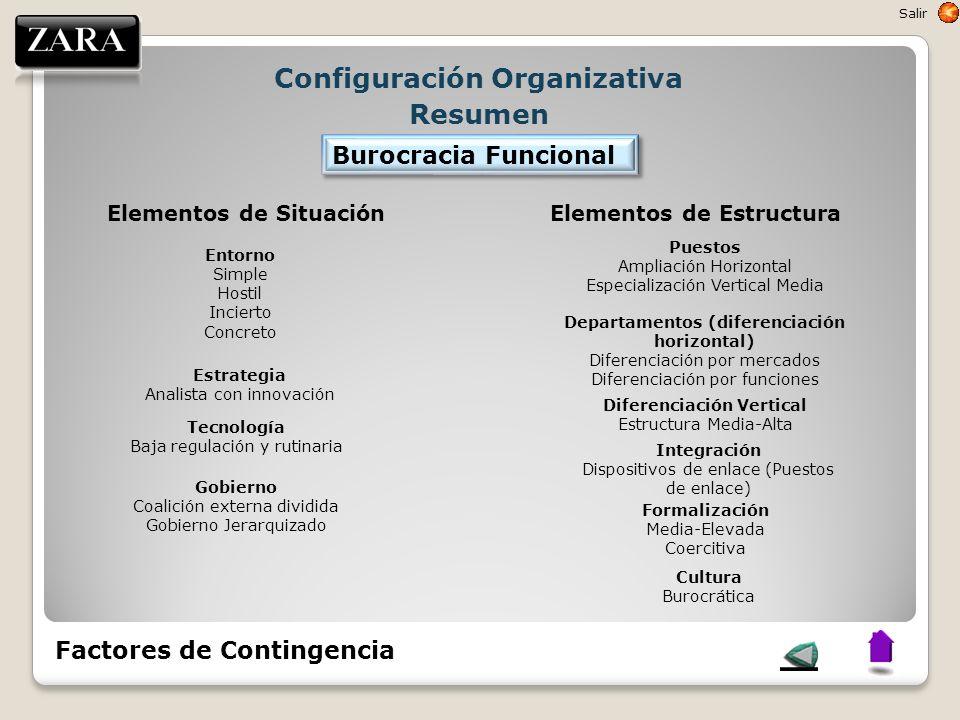 Configuración Organizativa Resumen