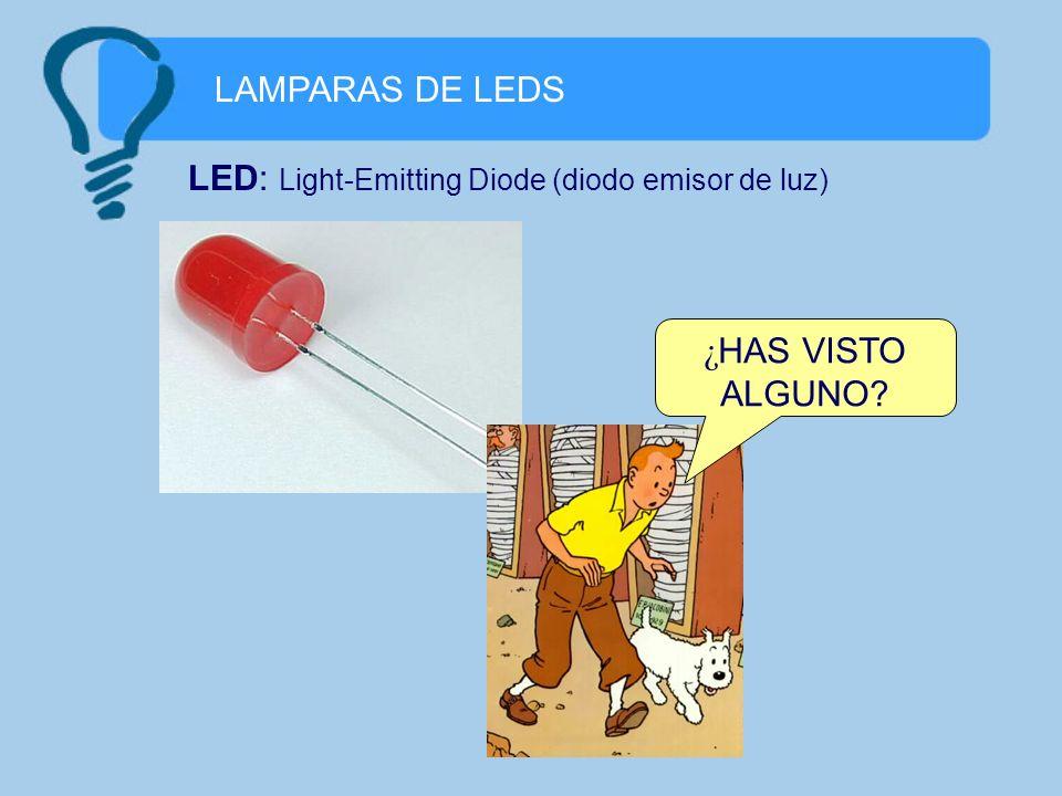 LAMPARAS DE LEDS LED: Light-Emitting Diode (diodo emisor de luz) ¿HAS VISTO ALGUNO