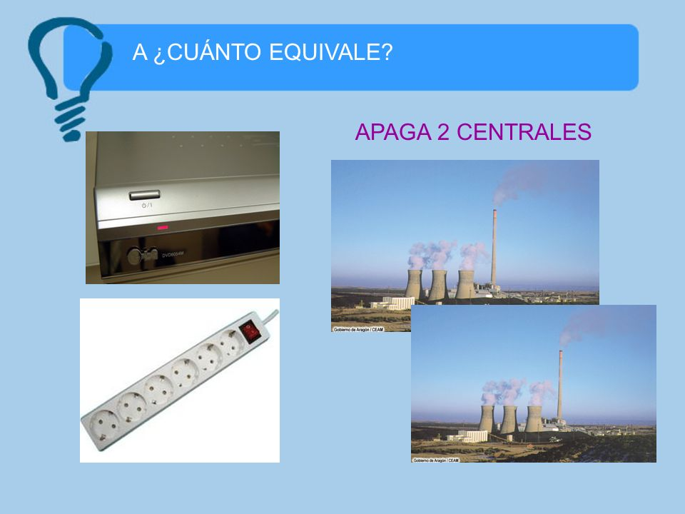 A ¿CUÁNTO EQUIVALE APAGA 2 CENTRALES