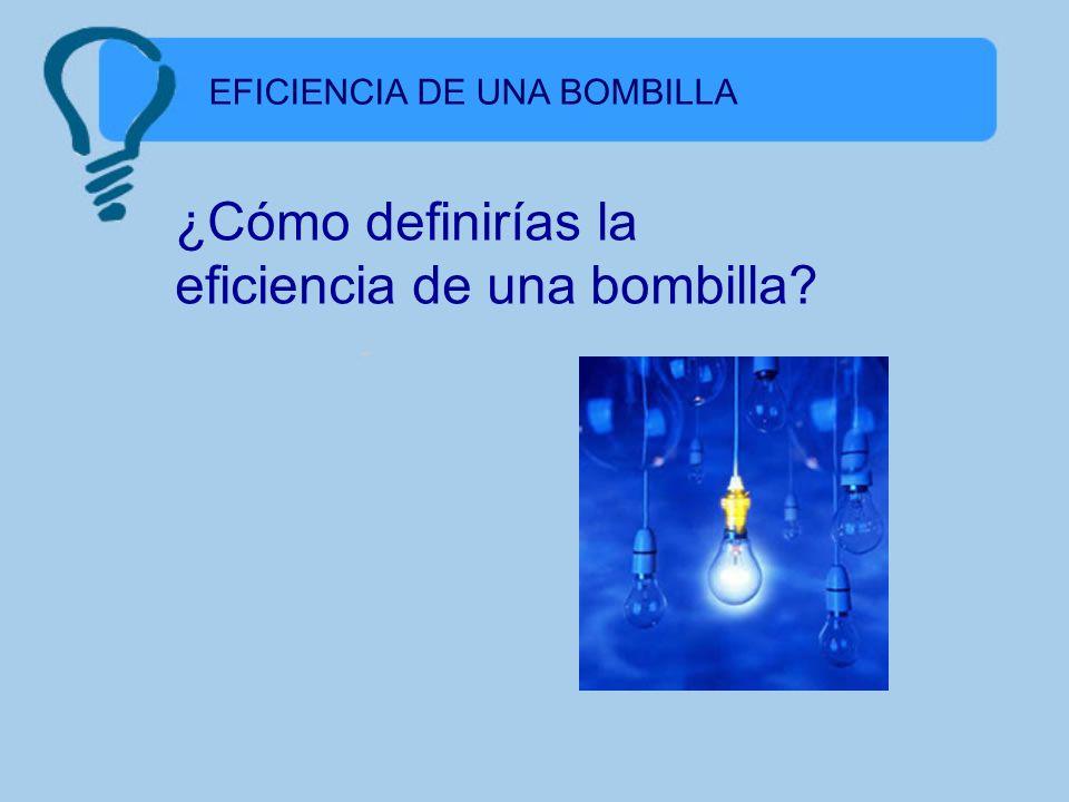 ¿Cómo definirías la eficiencia de una bombilla