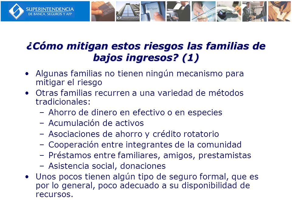 ¿Cómo mitigan estos riesgos las familias de bajos ingresos (1)