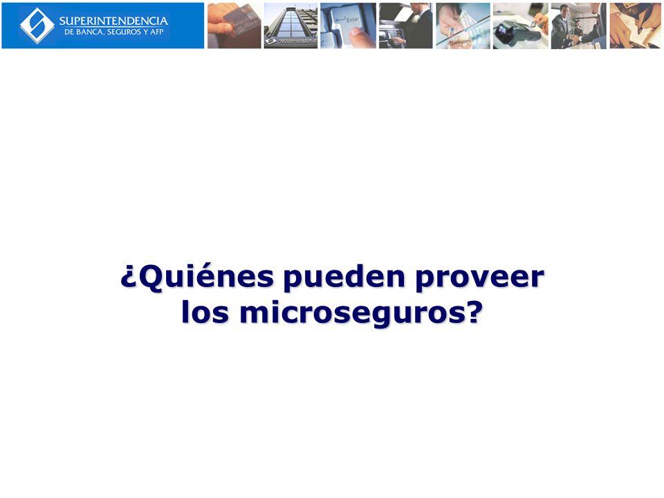 ¿Quiénes pueden proveer los microseguros