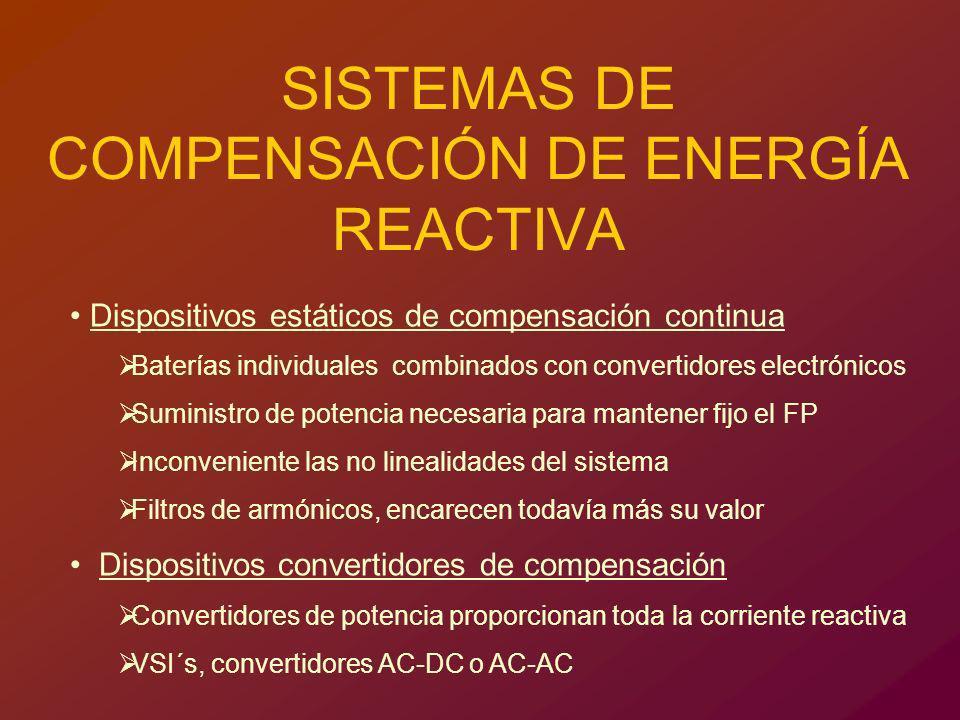 SISTEMAS DE COMPENSACIÓN DE ENERGÍA REACTIVA