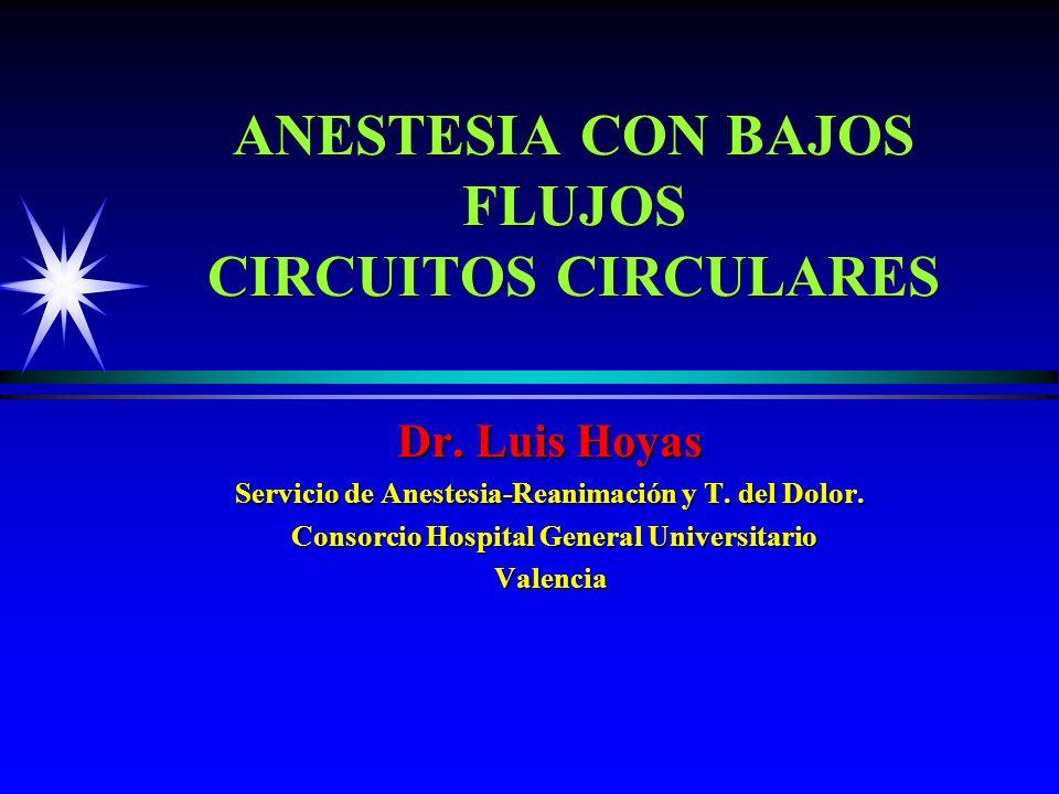 ANESTESIA CON BAJOS FLUJOS CIRCUITOS CIRCULARES