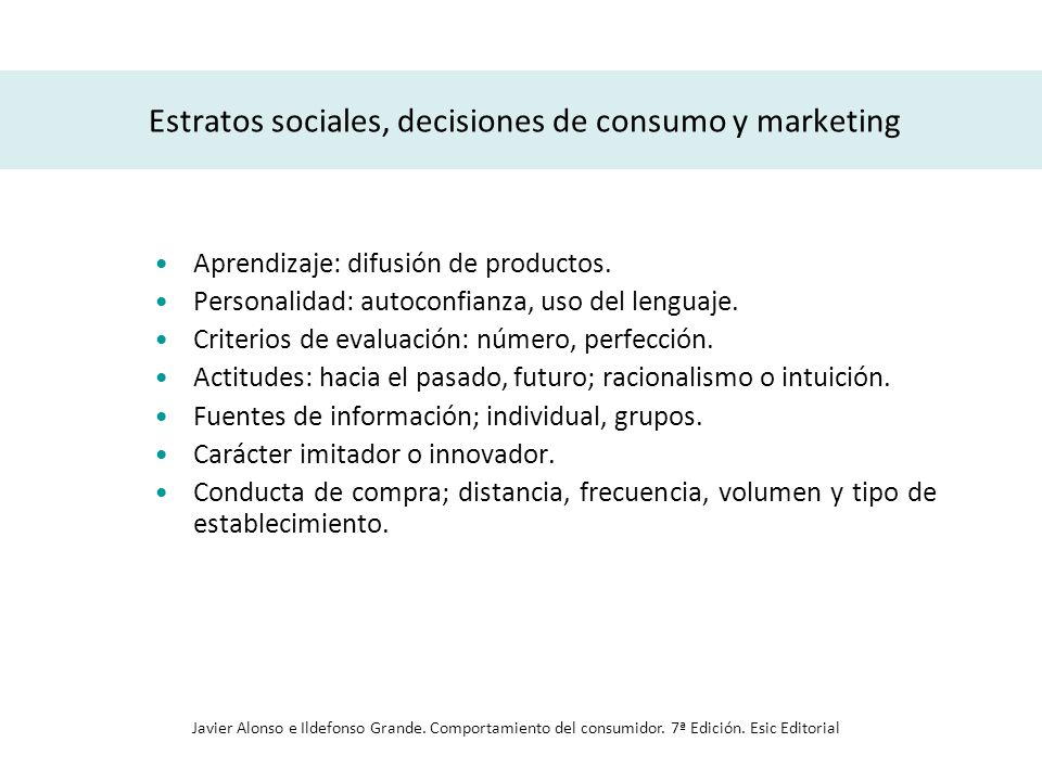 Estratos sociales, decisiones de consumo y marketing