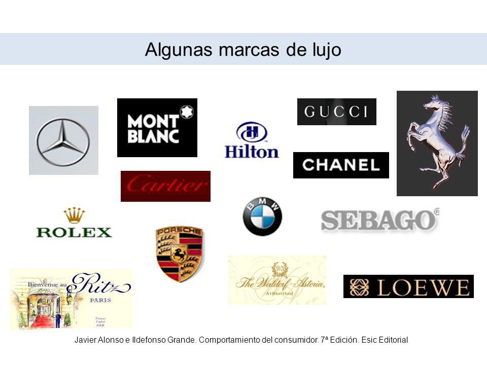 Algunas marcas de lujo Javier Alonso e Ildefonso Grande.